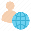 account, global, member, profile, user icon