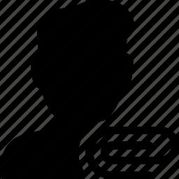 attach, attachment, paperclip, tool, user icon