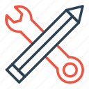 edit, pen, preference, service, setting, tool, write icon