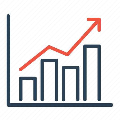 analysis, business, chart, growth, market, statics, upwards icon