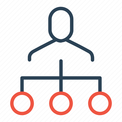 boss, command, company, employee, hierarchy, manager, structure icon