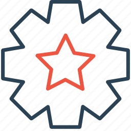 configure, favorite, gear, optimization, preferences, setting, star icon