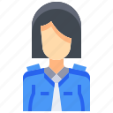 avatar, female, people, person, police, user, woman icon