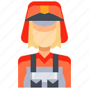avatar, female, fire, people, person, user, woman icon