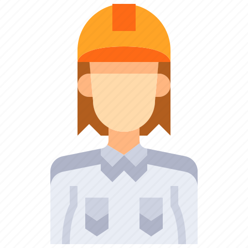 avatar, engineer, female, people, person, user, woman icon