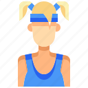 avatar, female, people, person, sport, user, woman icon