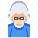 avatar, female, lady, old, people, person, user icon