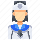 avatar, female, people, person, sailor, user, woman