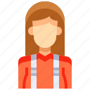 avatar, female, lumberjack, people, person, user, woman icon