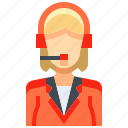 avatar, female, people, person, reporter, telemarketer, woman icon