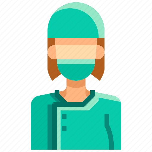 avatar, doctor, female, people, person, surgeon, woman icon