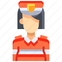 avatar, female, guard, people, person, user, woman icon