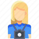 avatar, female, people, person, photographer, user, woman icon