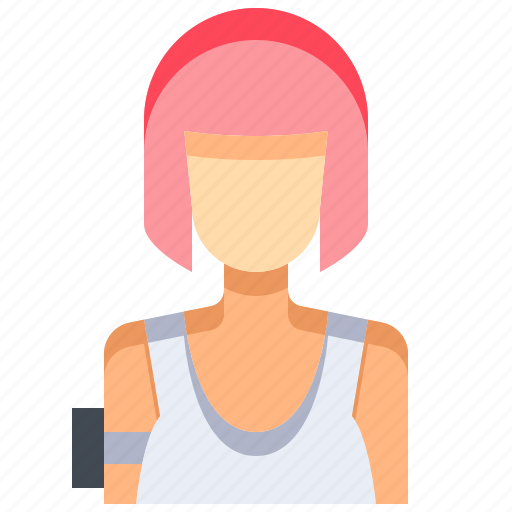 avatar, female, people, person, sport, sportwoman, woman icon
