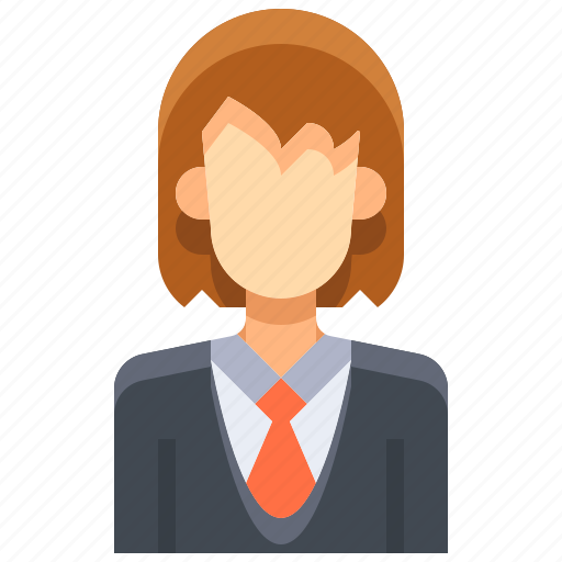 avatar, female, lawyer, people, person, user, woman icon