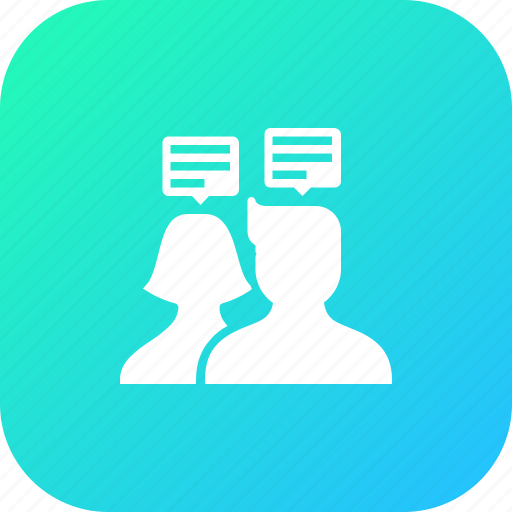 avatar, chat, couple, discussion, group, talk, user icon