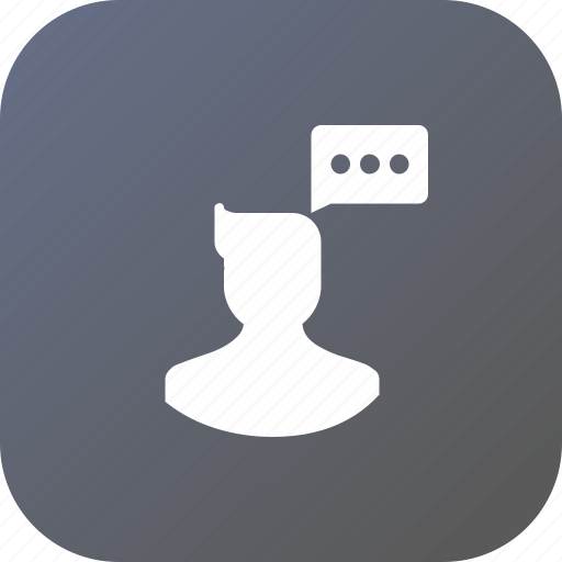Avatar, chat, communication, male, man, think, user icon - Download on Iconfinder