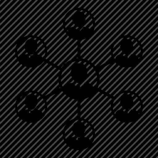 business, group, men, network, share, social, teamwork icon