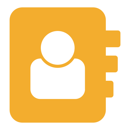 contact, directory icon