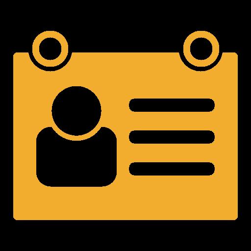 access card, id card, namecard, profile icon