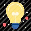 ideas, bulb, light