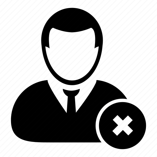 businessman, delete, human, person, profile, user icon