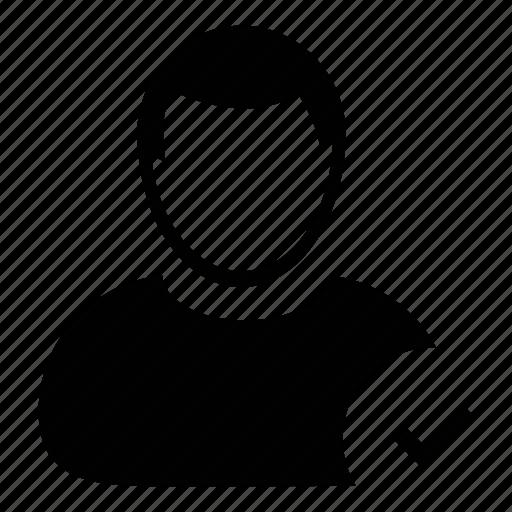 admin, approve user, avatar, men, people, person, user icon