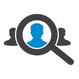 group, human, magnifirer, people, search user, team, users icon