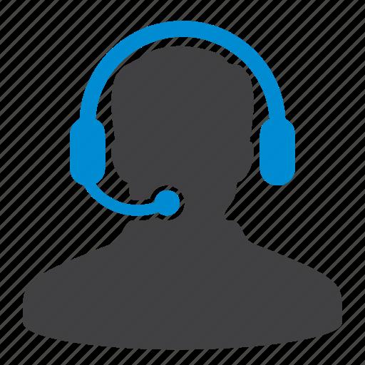 customer support, headphone, help, man, office, service, user icon