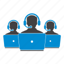 customer support, headphone, help, laptop, service, users icon