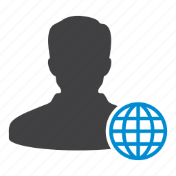 client, globe, internet, network, online, user, web icon