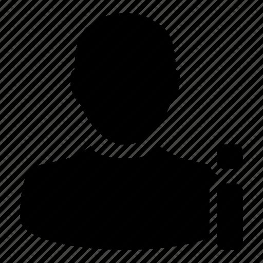 account, information, man, user icon