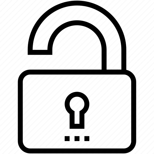 lock, padlock, protection, security, unlock icon