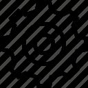 cog, customize, gear, menu, options, round, settings, tool, ui icon