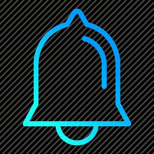 alarm, alert, bell, notification, user interface icon