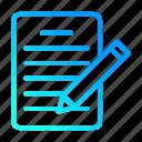 data, document, note, sheet, user interface