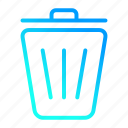 delete, garbage, recycle, trash, user interface icon
