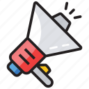 advertisement, bullhorn, loudspeaker, megaphone, promotion icon