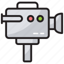 camcorder, camera, cinematography concept, output device, video recorder icon