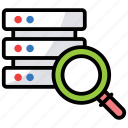 database exploration, database search, datasearch, file search, search storage icon