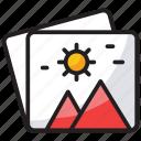 image, landscape photo, photo, picture, snap icon