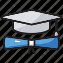 achievement, degree, education, graduate, scholar icon