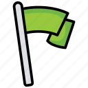 champion flag, goal post, milepost, mission accomplished, success icon