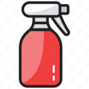 aerosol, householding cleaning, spray bottle, sprayer, water bottle icon