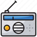 output device, radio, radio broadcast, radio station, vintage communication icon