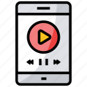 mobile video, mp4, online video, video player, video tutorial icon