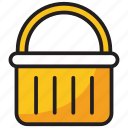 bucket, cart, ecommerce, grocery basket, shopping icon