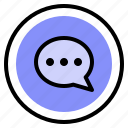 announce, chat, interface, ui icon