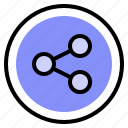 connections, interface, share, ui icon