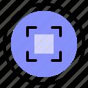 interface, shot, ui, zoom icon